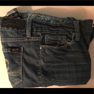 Seven7 Ladies Bootcut Blue Jeans